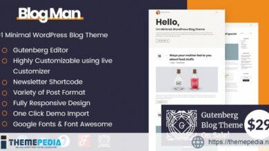 Blogman – Personal Blog WordPress Theme [Updated Version]