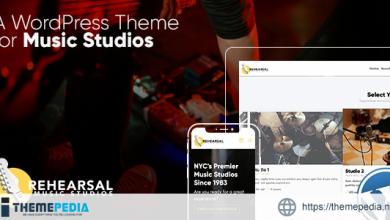 Rehearsal – Music Studio WordPress Theme [Free download]