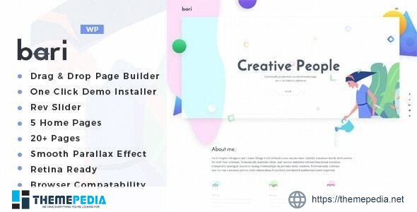 Bari – Portfolio and SEO -Digital Agency WordPress Theme [Free download]