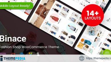 Binace – Fashion Shop WordPress WooCommerce Theme [Free download]