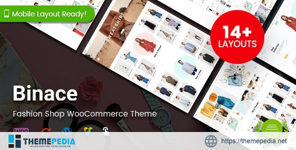 Binace – Fashion Shop WordPress WooCommerce Theme [Free download]