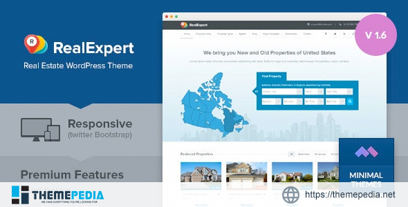 Real Expert – Responsive Real Estate and Property Listing WP Theme [Free download]