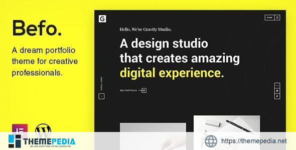 Befo – A Portfolio Theme for Creative People [Free download]
