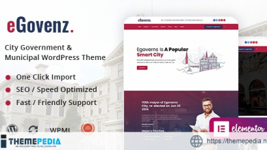 eGovenz – City Government WordPress Theme [Free download]