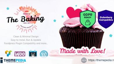 Bakery – Cake Shop – Cafe WordPress Theme [Free download]