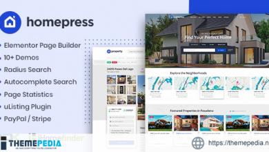 HomePress – Real Estate WordPress Theme [Free download]