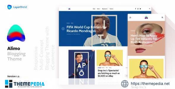 Alimo – Clean Responsive WordPress Blog Theme [Free download]