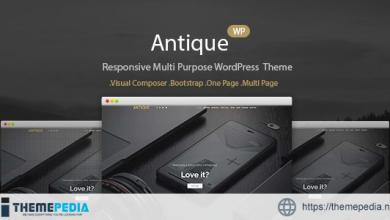 Antique – Onepage Portfolio WordPress Theme [Free download]