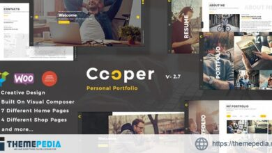 Cooper – Creative Responsive Personal Portfolio WordPress Theme [Free download]