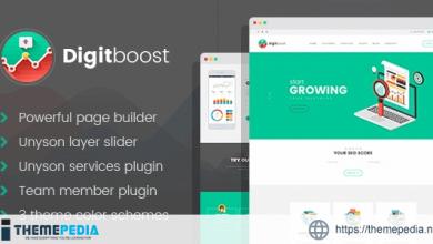 DigitBoost – Digital Marketing & SEO Agency WordPress theme [Free download]