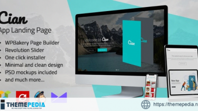 Cian – App Landing Page WordPress [nulled]