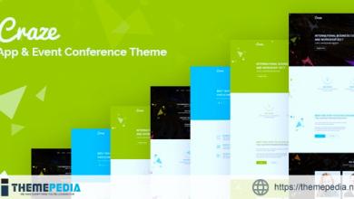 Craze – App Event & Conference WordPress Theme [Latest Version]