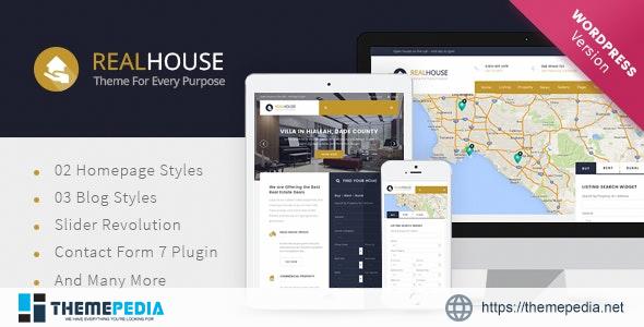 Realhouse – Real Estate WordPress theme [Free download]