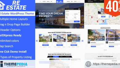 ReEstate – Real Estate with MLS IDX Listing Realtor Theme [Free download]