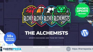 Alchemists – Sports, eSports & Gaming Club and News WordPress Theme [Updated Version]