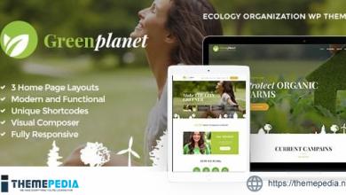 Green Planet – Environmental Non-Profit Organization WordPress Theme [Free download]