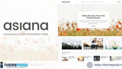Asiana – Clean Blog & Shop WordPress Theme [nulled]