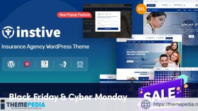Instive – Insurance WordPress Theme [Free download]