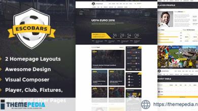 Escobars – Sport Team Clubs WordPress Theme [Latest Version]
