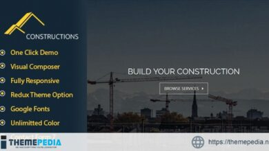 Constructions Business WordPress Theme [Free download]
