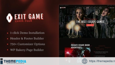 Exit Game – Real-Life Secret Escape Room WordPress Theme [Free download]