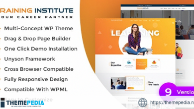 E learning – Education & Training Institute WordPress Theme [Free download]
