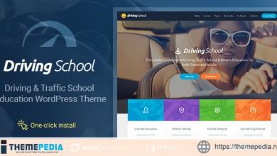Driving School – Car & Automobile WordPress Theme [Free download]