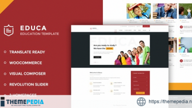 Educa – Education, Courses and Events WordPress Theme [nulled]