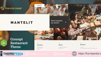 Mantelit – Restaurant WordPress Theme [Free download]