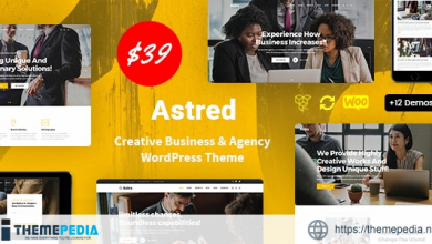 Astred – Modern Multi-Purpose WordPress Theme [Free download]