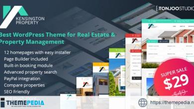 Kensington – Real Estate and Property Management WordPress Theme [Free download]