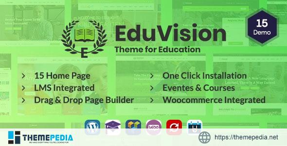 Eduvision – Online Course Multipurpose Education WordPress Theme [Free download]