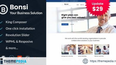 Bonsi – Business Consulting WordPress Theme [Free download]