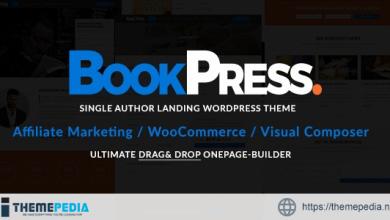 BookPress Single Author WP Landing Theme [Free download]