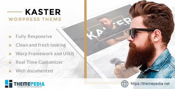 Kaster — Creative portfolio WordPress Theme [Free download]