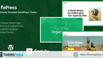 Nonprofit Charity WordPress Theme – ePress [Free download]