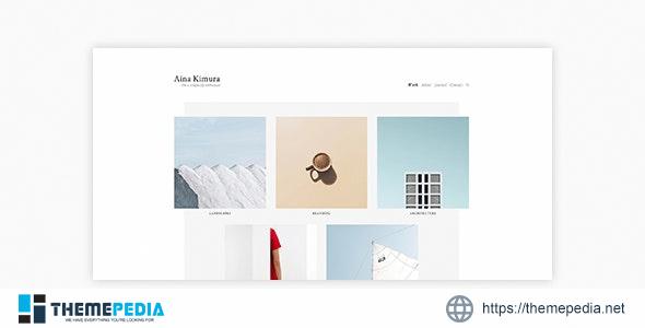 Aina – Minimal Photography and Portfolio WordPress Theme [Free download]