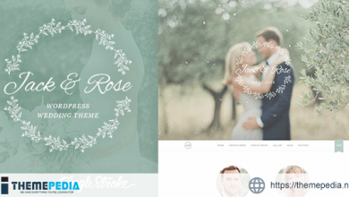 Jack & Rose – A Whimsical WordPress Wedding Theme [Free download]