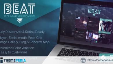 Beat – One-Page Music & Band AJAX WordPress Theme [Free download]
