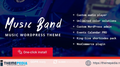 Music Band Live Event and Dance Club WordPress Theme [Free download]