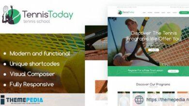 Tennis Today – Sport School & Events WordPress Theme [Free download]