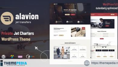 Alavion – Private Jet Charters WordPress Theme [Free download]