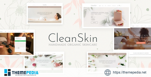 CleanSkin – Handmade Organic Soap & Natural Cosmetics Shop WordPress Theme [Free download]