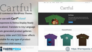 Cartful – Ecommerce WordPress Theme for Cart66 [Free download]