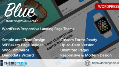 Blue – Single Product Landing Page WordPress Theme [nulled]