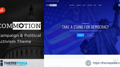 Commotion – Campaign & Political Activism Theme [Updated Version]