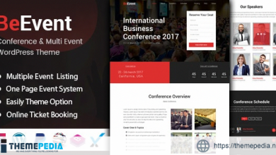 BeEvent – Conference & Multi Event WordPress Theme [Free download]