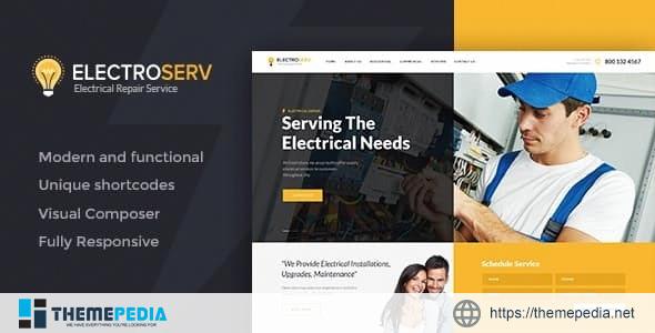 ElectroServ – Electrical Repair Service WordPress Theme [Free download]