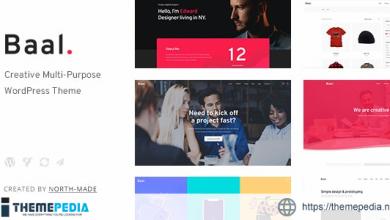 Baal – Creative Portfolio WordPress Theme [Free download]