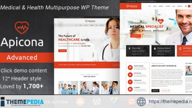Apicona – Health & Medical WordPress Theme [Updated Version]